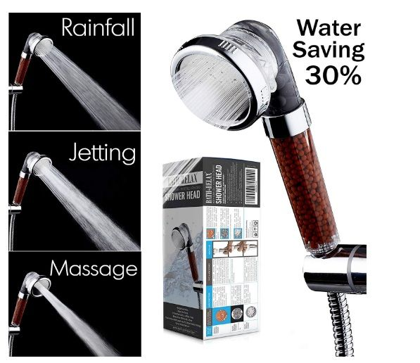 Filtered Hand Held Shower Head Filtration