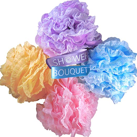 Loofah Bath Sponge Large Lace Set by Shower Bouquet